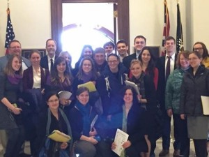 The Ohio delegation visits the Hill as part of CSMG.  Thank you to Austin Schafer of St. Thomas More Newman Center at The Ohio State University for the picture.