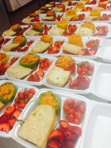 Meals prepared by students at Saint Louis University's Campus Kitchen.